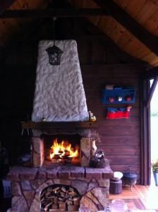 kominek w altance